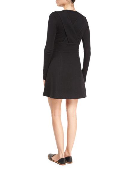 Sleeveless Pinafore Dress, Black