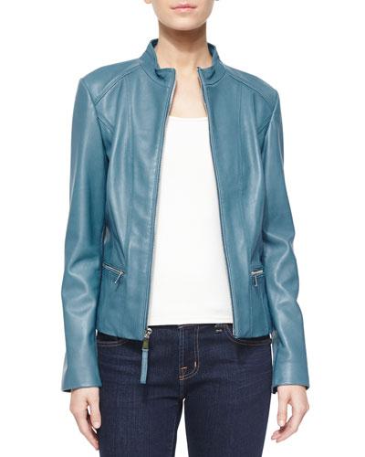 Washed Lambskin Leather Jacket