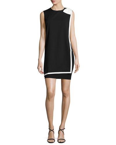 Elija Bow Double-Layer Shift Dress