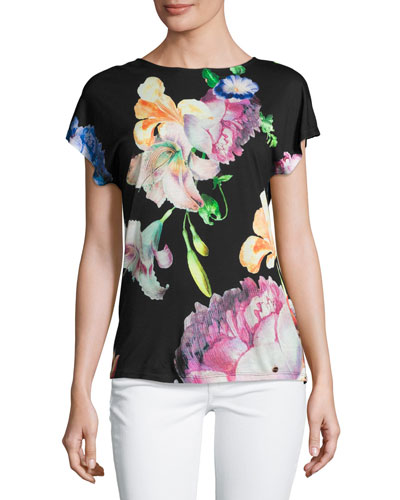 Woesy Tapestry Floral Tee