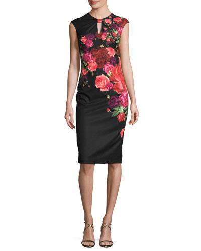 Mirrie Floral-Print Sheath Dress