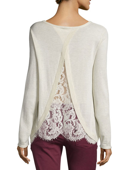 Marianna Lace-Back Sweater Best Price