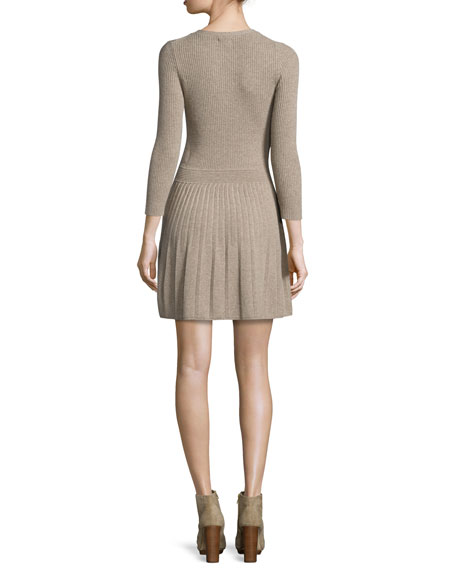 Peronne Ribbed Fit & Flare Dress