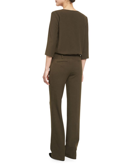 Allure Surplice-Front Trouser Jumpsuit