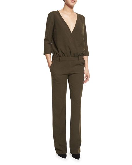 ba&sh Allure Surplice-Front Trouser Jumpsuit