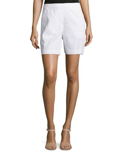 Harsbie Crunch Washed Shorts, White