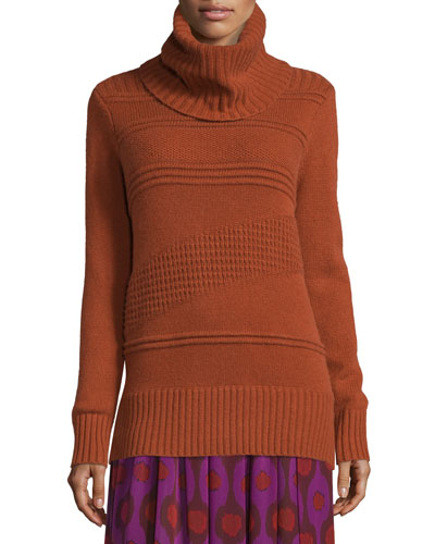 Talassa Cowl-Neck Sweater, Carnelian