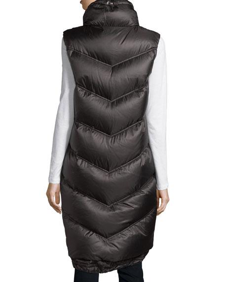 Bogner Long Down Puffer Vest, Black | Neiman Marcus
