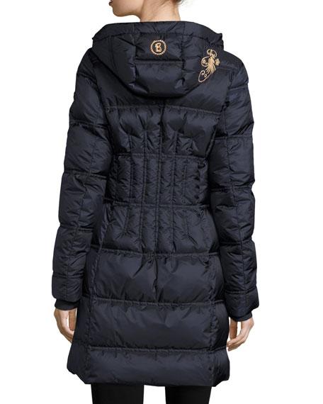 Lightweight Hooded Puffer Coat, Navy