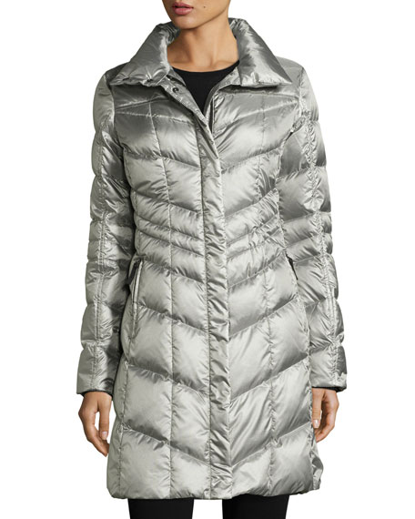 Bogner Fire + Ice Hooded Herringbone Down Coat,
