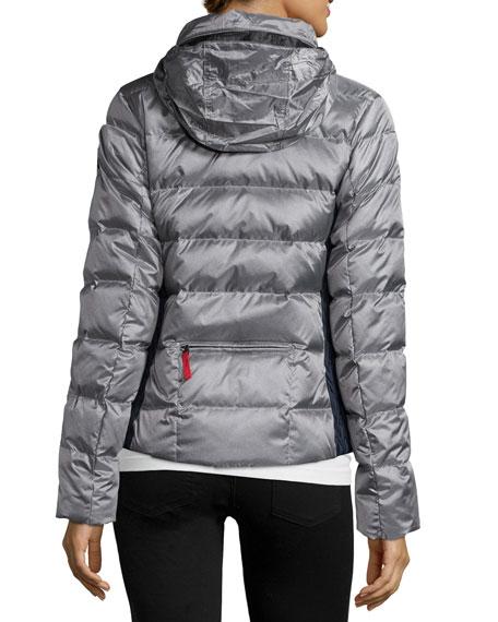 bogner fire ice lightweight puffer jacket silver. Black Bedroom Furniture Sets. Home Design Ideas