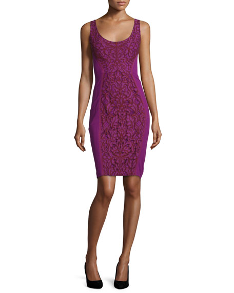Diane von Furstenberg Geovana Lace Sleeveless Sheath Dress,