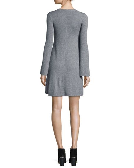 Althea Merino Wool V-Neck Sweater Dress
