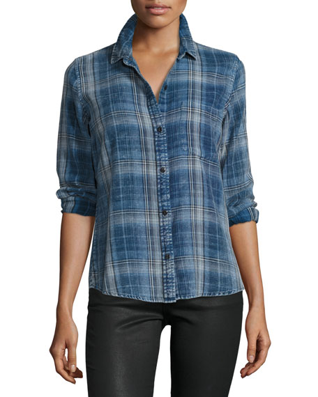 The Workwear Slim Boy Shirt, Abbot Plaid