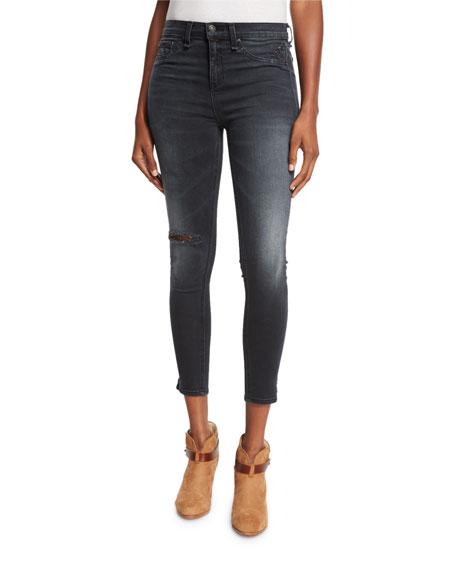 rag & bone/JEAN10 Inch Capri Jeans w/Slit, Steele
