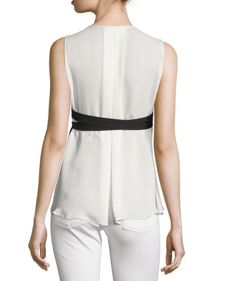 Minou Bicolor Vest & Shirt Combo Top