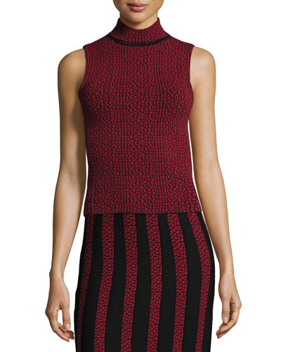 Patel Printed Sleeveless Turtleneck