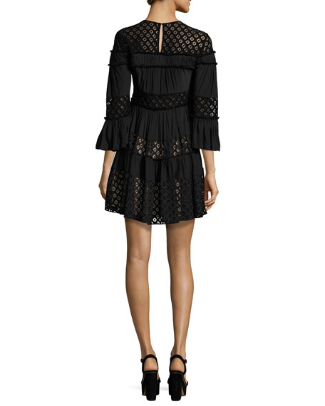 Octavia Tiered Lace Dress