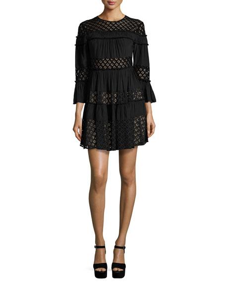 Octavia Tiered Lace Dress