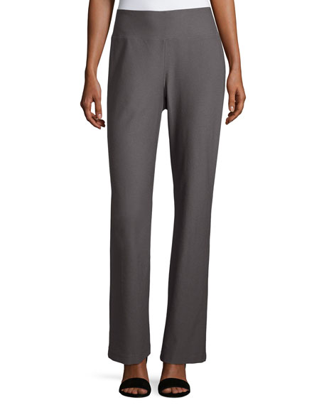 Eileen Fisher Stretch Crepe Boot-Cut Pants, Ash