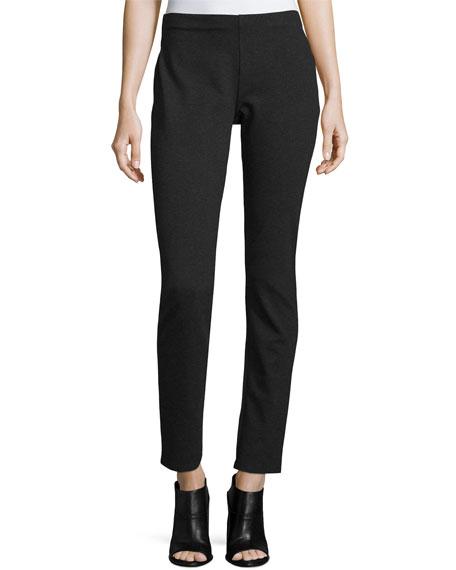 Eileen Fisher Slim Ponte Pants, Petite, Charcoal, Plus