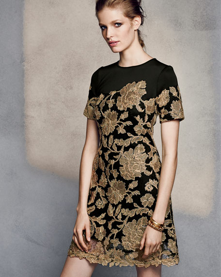 Black and gold cocktail dresses