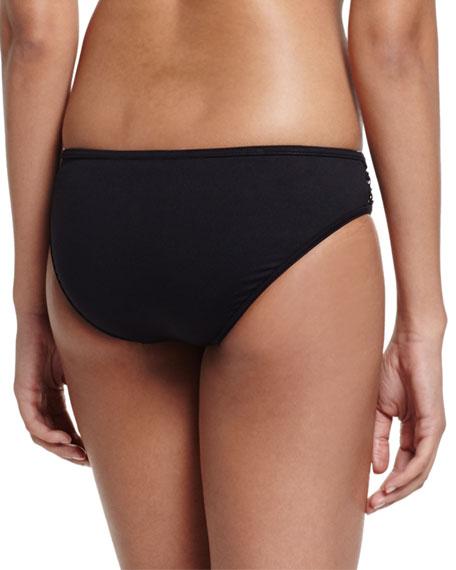 Active Mesh-Inset Swim Bottom, Black