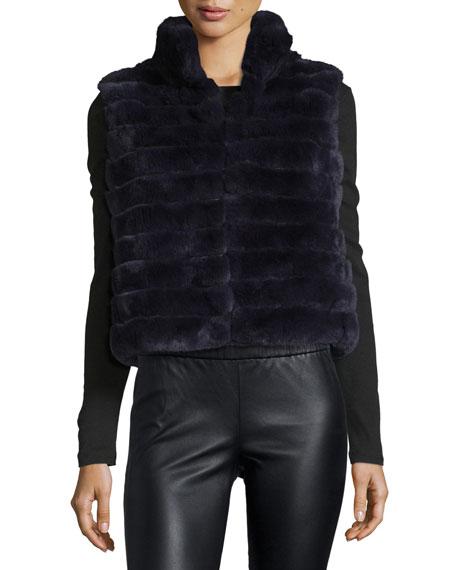 Sleeveless Rabbit Fur Vest