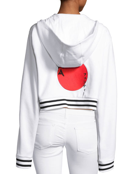 Lace-Up Hoodie Sweatshirt, Puma White