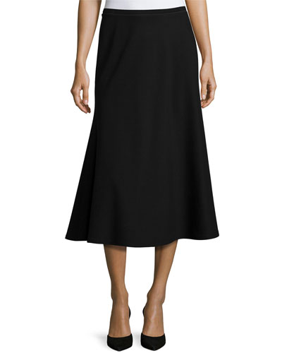 Tulip Knit Midi Skirt, Black, Plus Size