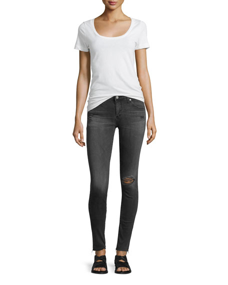 The Legging 10 Years Well Distressed Ankle Jeans