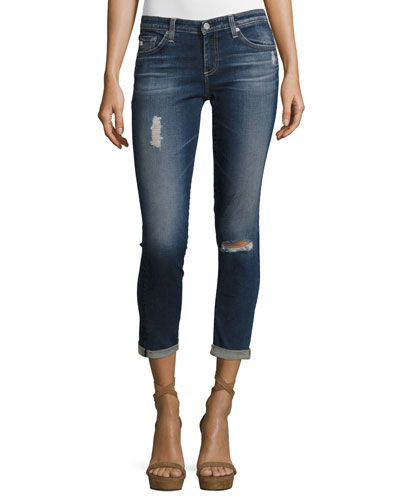 The Stilt Roll-Up Cropped Jeans, 4 Years Destroyed