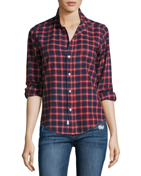 Frank & Eileen Barry Plaid Oxford Shirt, Red/Blue
