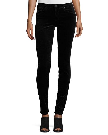 AG The Legging Velvet Skinny Jeans Black