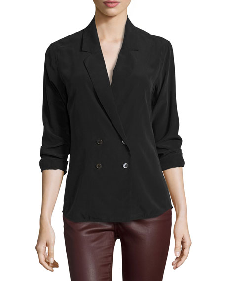AG Brooks Double-Breasted Silk Shirt