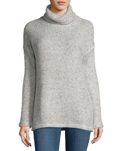 Loose-Knit Roll-Neck Top
