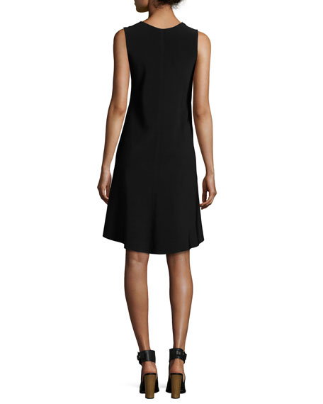 Solid Swing Dress, Black