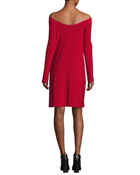 Off-the-Shoulder Dress, Red