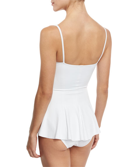 Underwire Swim Dress Mini, White