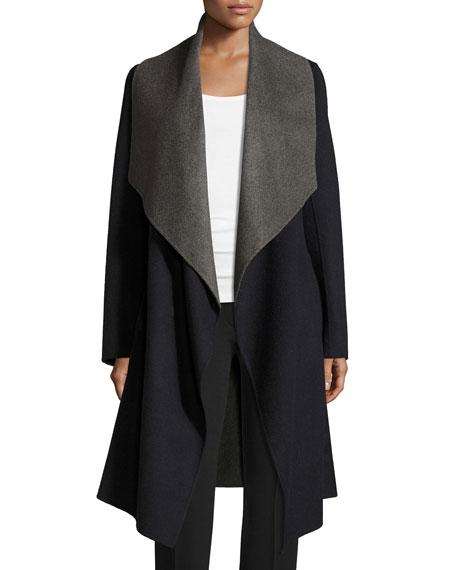 Diane von FurstenbergReversible Wool-Blend A-Line Wrap Coat,