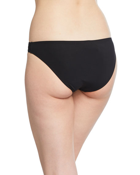 Solid Hipster Swim Bottom, Black