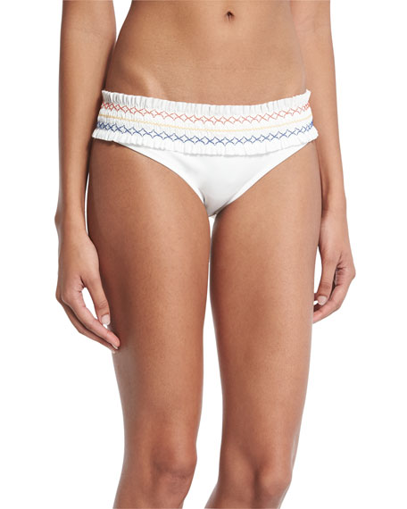 Tory Burch Costa Hipster Swim Bottom, New Ivory