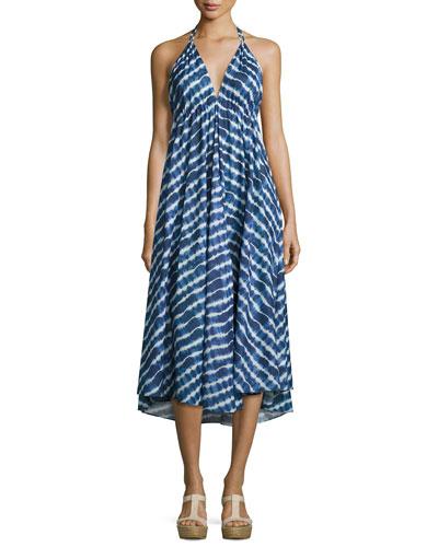 Ziggy Midi Dress, Tie-Dye Stripe