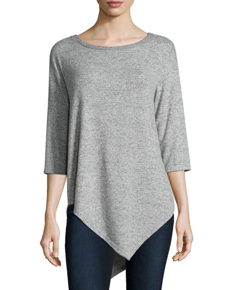 Tammy 3/4-Sleeve Sweater , Heather Gray