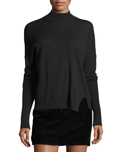 Acacia Mock-Neck Sweater, Green Reviews