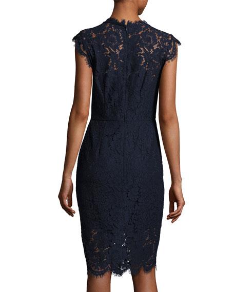 rachel zoe suzette floral lace sheath dress navy