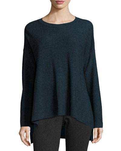 Long-Sleeve Merino Links Top, Fir