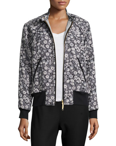 Liane Floral Jacquard Bomber Jacket