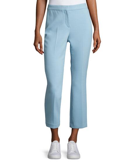 Theory Erstina Pioneer Cropped Pants, Ocean Blue