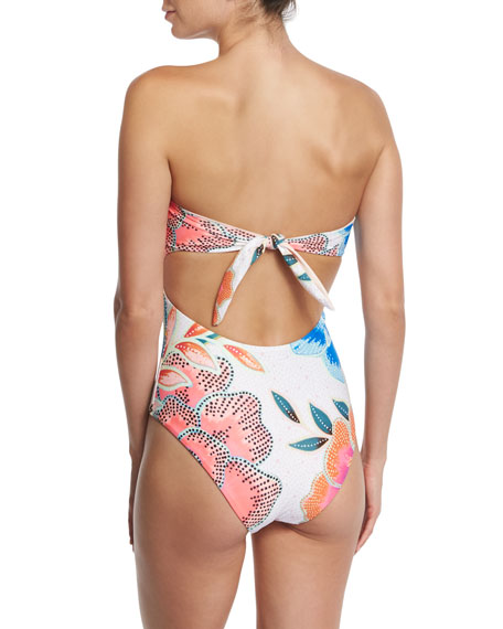 Arcadia Lace-Up One-Piece Swimsuit